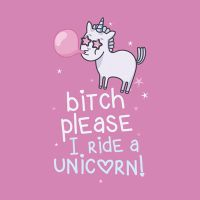 Bitch please i ride a Unicorn - VISUAL STATEMENTS